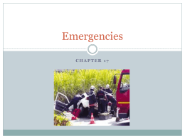 Chapter 17 - Emergencies