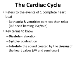 The Cardiac Cycle