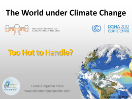 presentation at COP in Doha - Potsdam Institute for Climate Impact