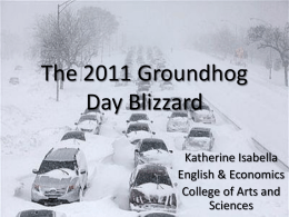 The 2011 Groundhog Day Blizzard