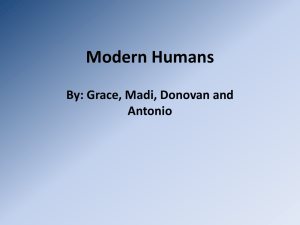 Modern Humans - Ms. McClure`s Class