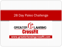 28 Day Paleo Challenge - Greater Lansing CrossFit