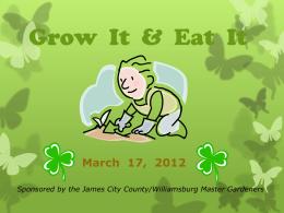 Grow It & Eat - Master Gardeners