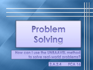 FCA 13 Gr 2 Problem Solving using the