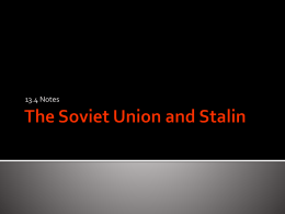 13.4 The Soviet Union and Stalin