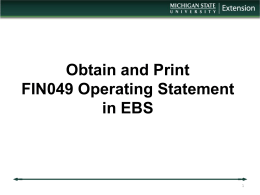 EBS System at MSU How to get to your Action List