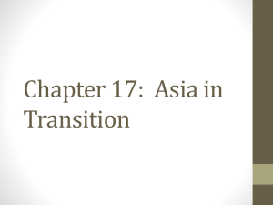 Chapter 17: Asia in Transition - mikephillips