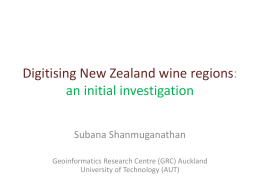 Climate and *terroir* of New Zealand wine regions: a GIS perspective