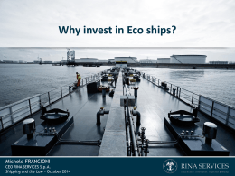Why invest in Eco ships?