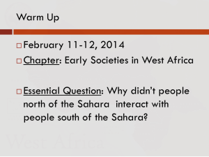 Early Societies in West Africa