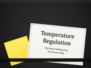 Temperature Regulation - Jannali-Biology
