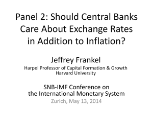 Should central banks care about the exchange rate?