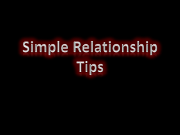 Relationship tips 30JUNE12 - Withcott Church of Christ
