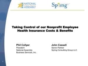 Managing Health Insurance Costs