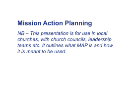 Mission Action Planning NB – This presentation is for use in local