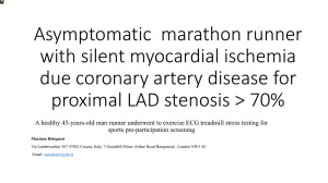 Asymptomatic marathon runner with silent myocardial ischemia