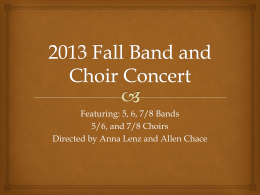 Fall Band and Choir concert power point