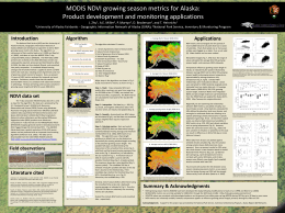 poster for the metrics algorithm - Geographic Information Network of