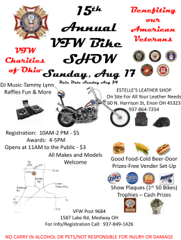 Bike Show - VFW 9684 MEDWAY OH
