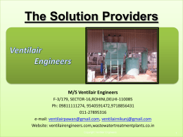 ETP Presentation - Ventilair Engineers