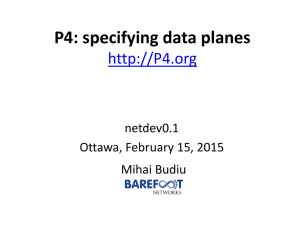 P4: Specifying data planes