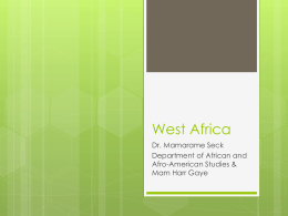 West Africa – UNC CGI - Center for Global Initiatives