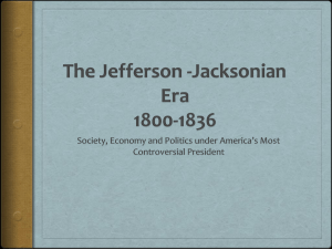 Jefferson-Jacksonian Era