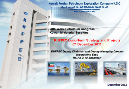 KUFPEC Long-Term Strategy and Projects