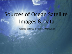 Sources of Ocean Satellite Images and Data