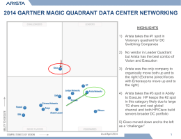 2014 Magic Quadrant Arista