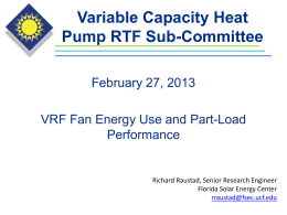 Major Difference between VRF HP`s and Conventional HP`s