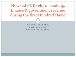 How did FDR reform banking, finance & government revenue during