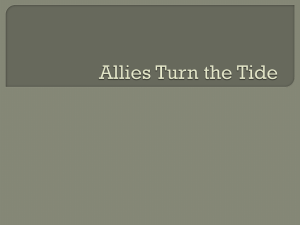 Allies Turn the Tide Notes