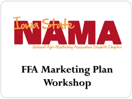 FFA Marketing CDE Competition Workshop