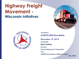 Highway Freight Movement