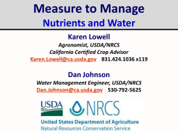 Measure to Manage Nutrients and Water