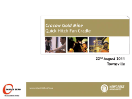 Cracow Gold Mine – Quick Hitch Fan Cradle