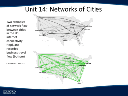 Chapter 14: Networks of Cities PowerPoint Lecture Slides