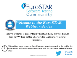 Today*s webinar is presented by F