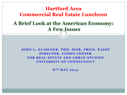 CRE Capital Markets Update by John Glascock