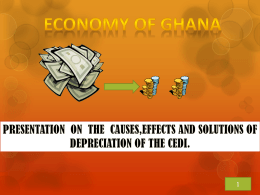 What depreciation of the cedi is. Causes of