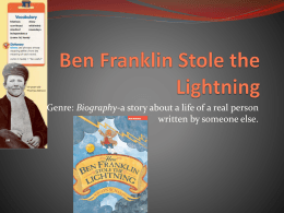 4.2.4 Ben Franklin Stole the Lightning