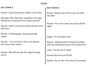 Romeo and Juliet Question C Extracts