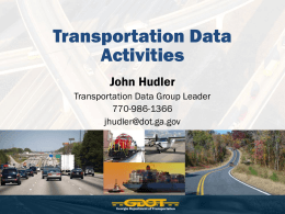 GDOT Data Services – John Hudler