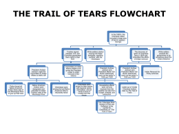 THE TRAIL OF TEARS FLOWCHART