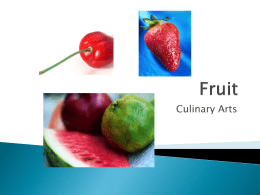 Fruit Classification