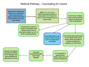 Adult carers casework flowchart