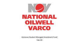 National Oilwell Varco 2/29/2013