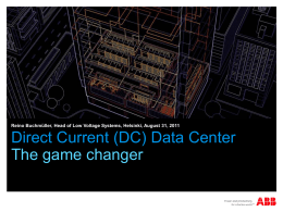 Direct Current (DC) Data Center