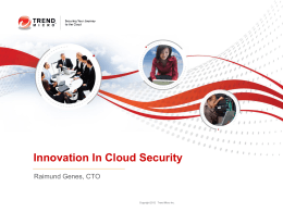 - Cloud Security Alliance